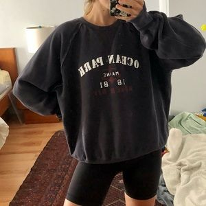 Maine Navy Oversized Crew Sweatshirt